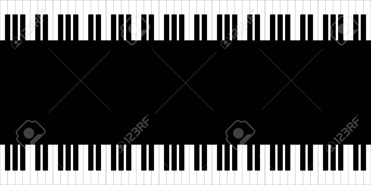 Black And White Piano Template Royalty Free Cliparts, Vectors, And ...