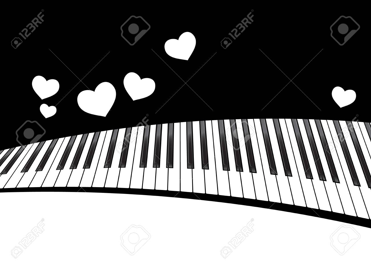 Piano Template With Hearts Royalty Free Cliparts, Vectors, And Stock ...