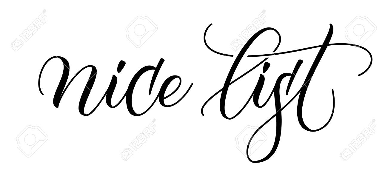 Brush calligraphy Nice List - 151890278