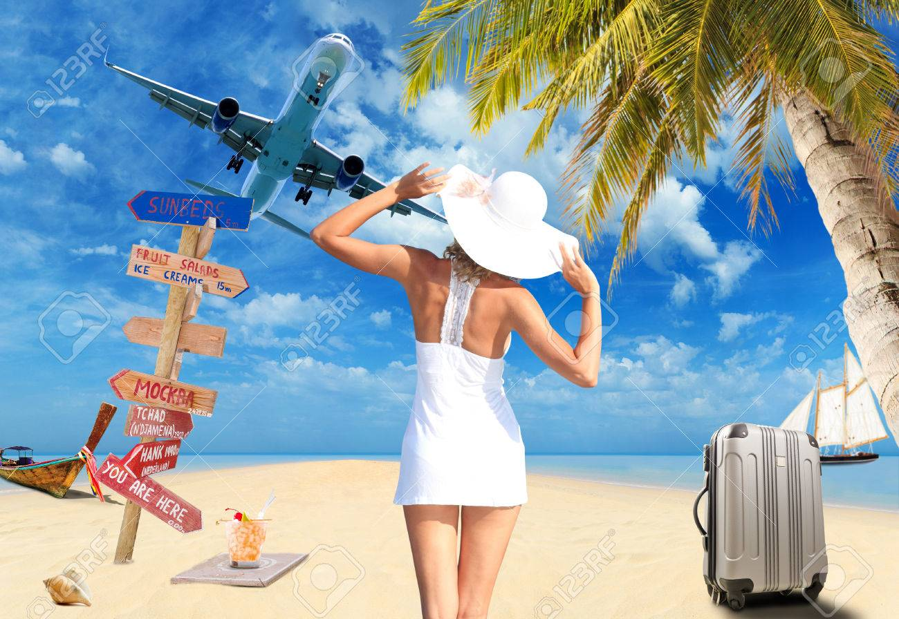 Young woman on the beach Travel concept - 23158453