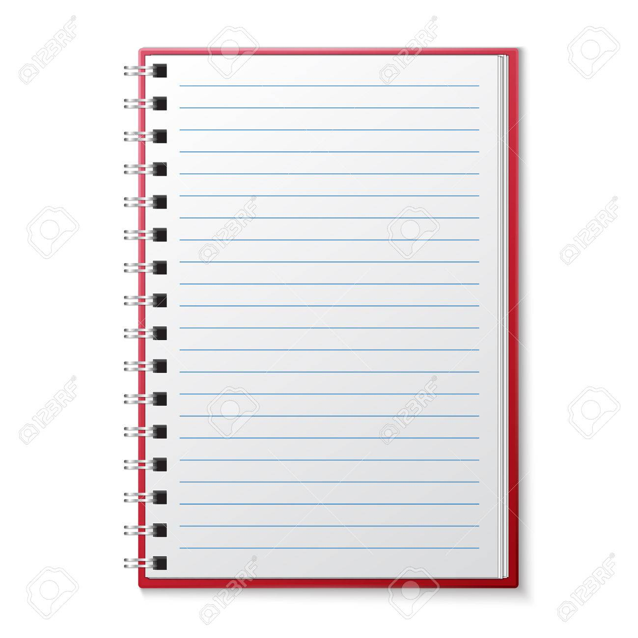 Open Blank Lined Page Notebook Royalty Free Cliparts, Vectors, And ...