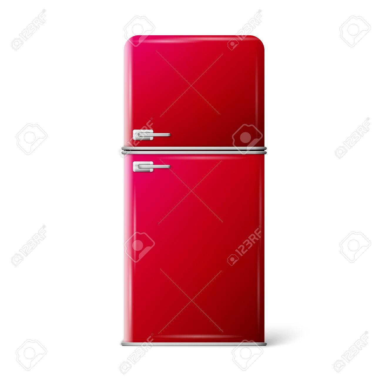 Retro Frigo Frigorifero In Colore Rosso Retr Elettrodomestici