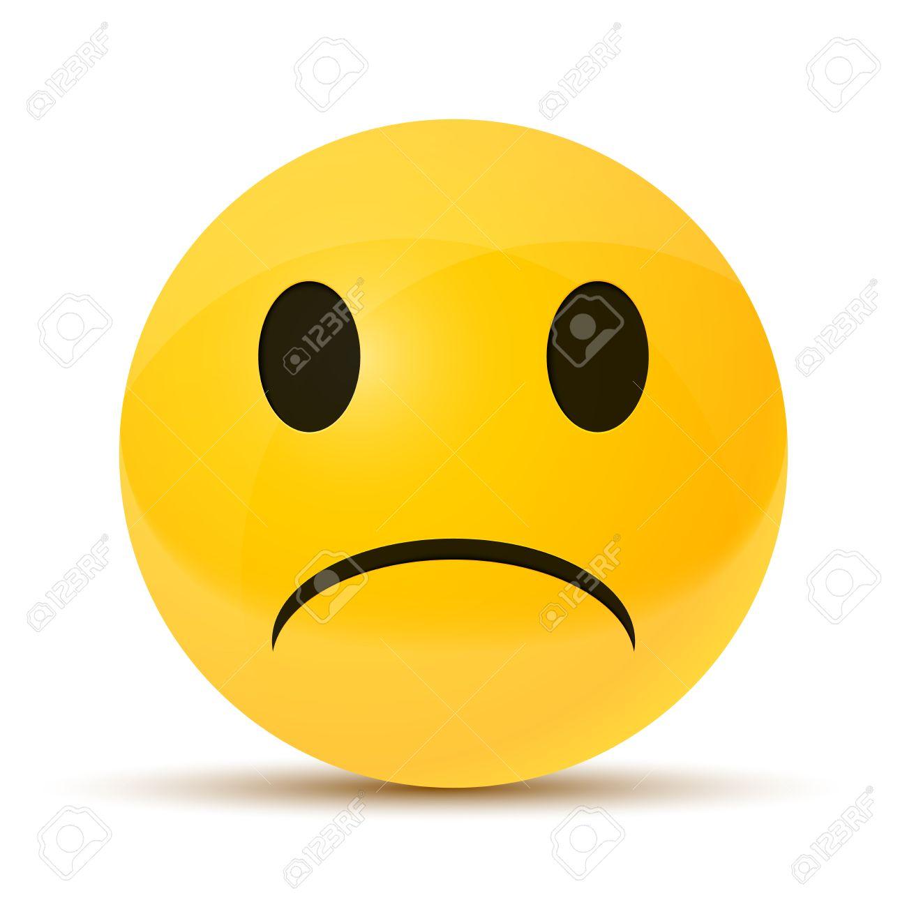 黄色の悲しい顔優秀なイラストのイラスト素材ベクタ Image 42497370