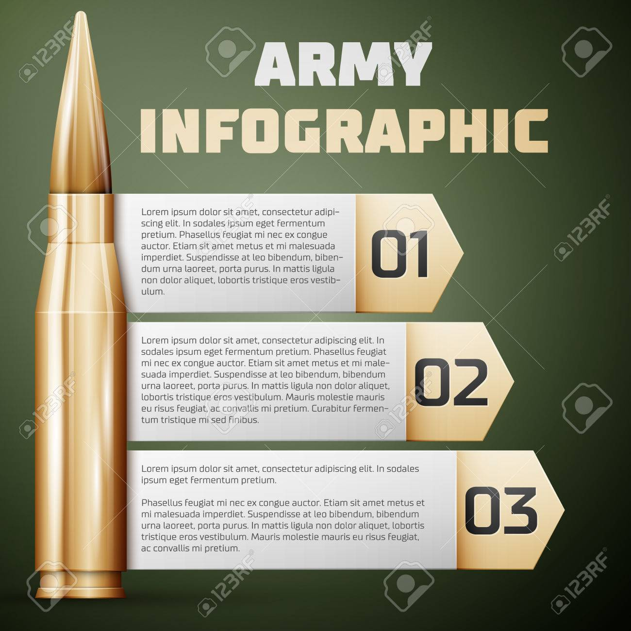 Army Infographic. Graphic Template, Vector Illustration. Royalty ...