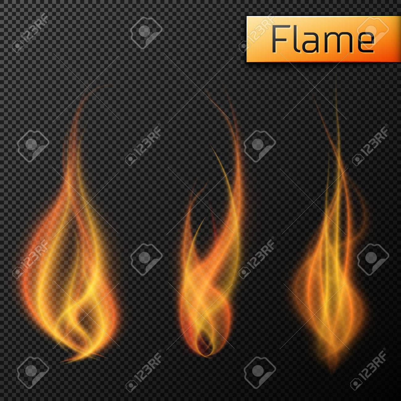 Fire flames vectors on transparent background. Vector illustration, EPS 10 - 51133138