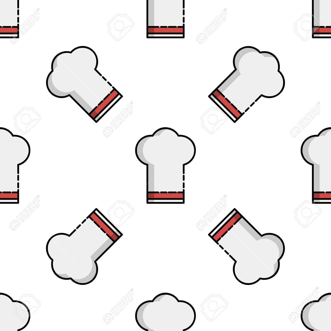 Cucina Icona Modello. Oggetti Da Cucina In Stile Piatto. Clipart ...