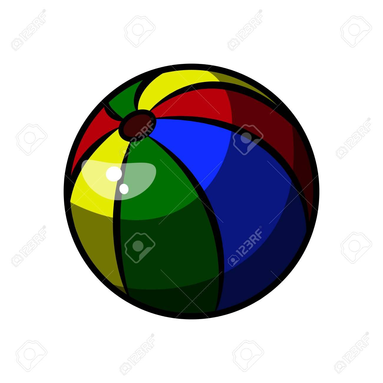 Farbe Skizze Baby Beach Ball. Hand Gezeichnet Ball Icon. Ball Skizze ...
