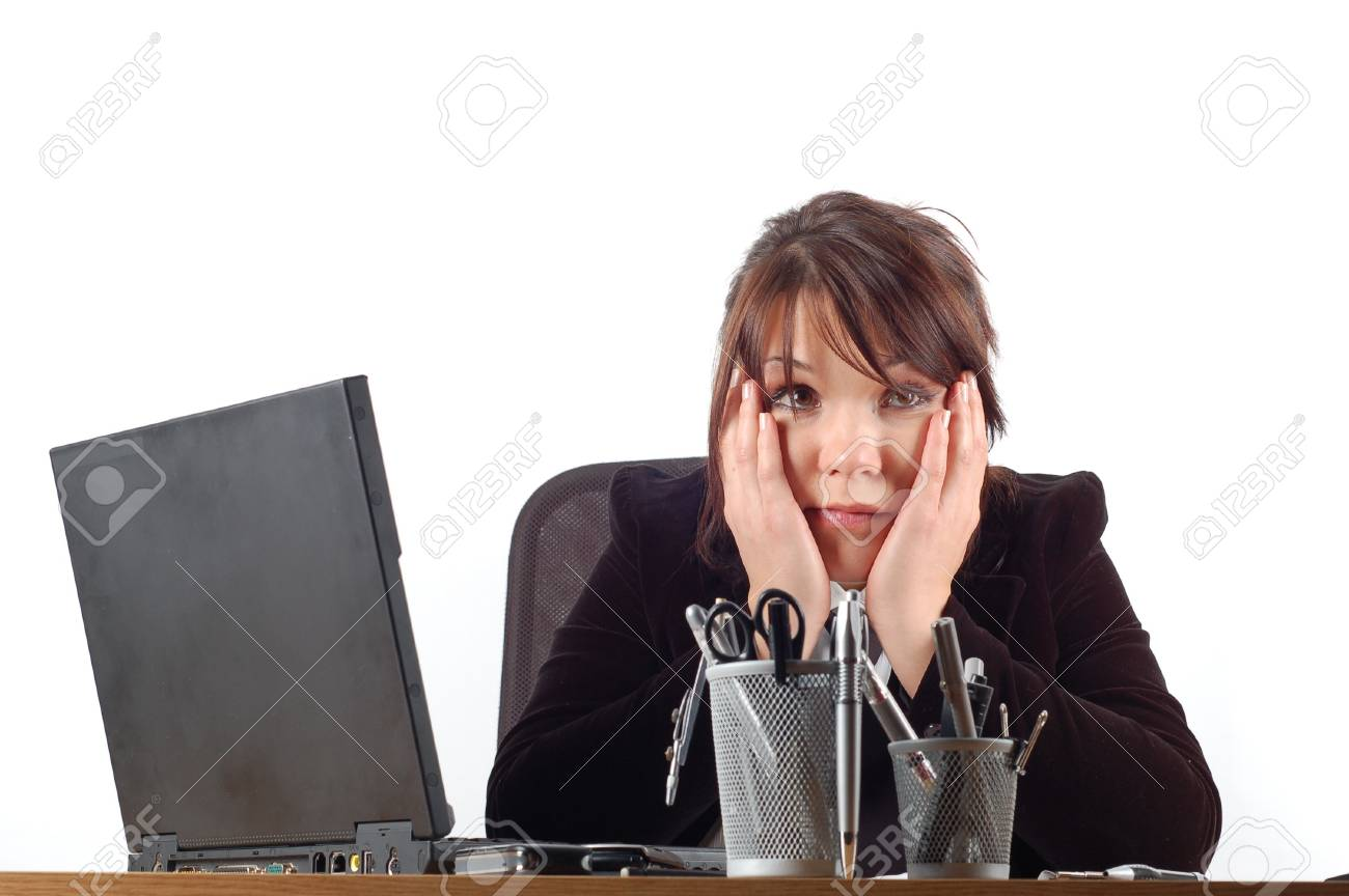 business woman at desk #11 Stock Photo - 888060