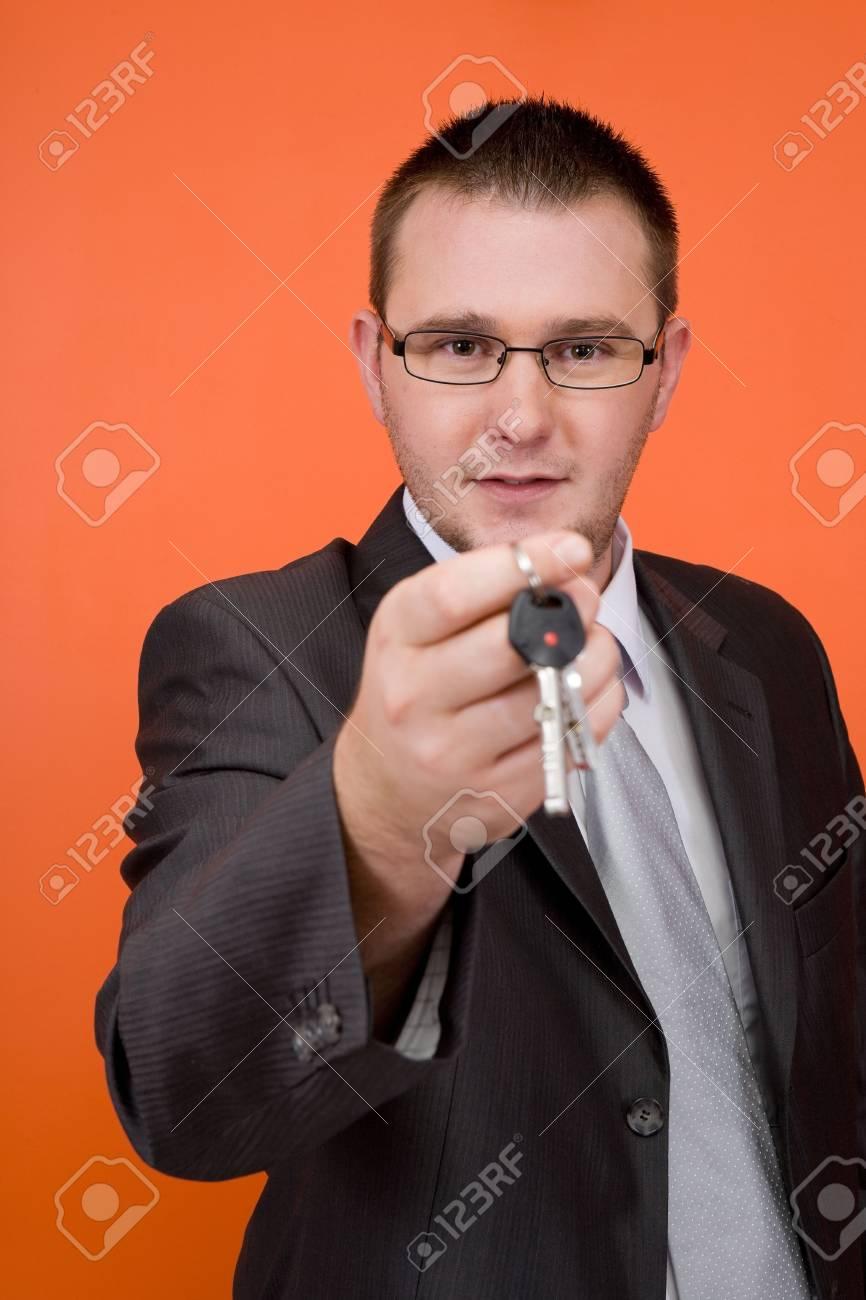 real estate agent holding keys Stock Photo - 3560916
