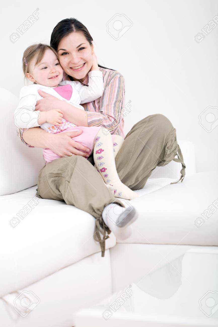 mother and daughter having fun at home Stock Photo - 6915121