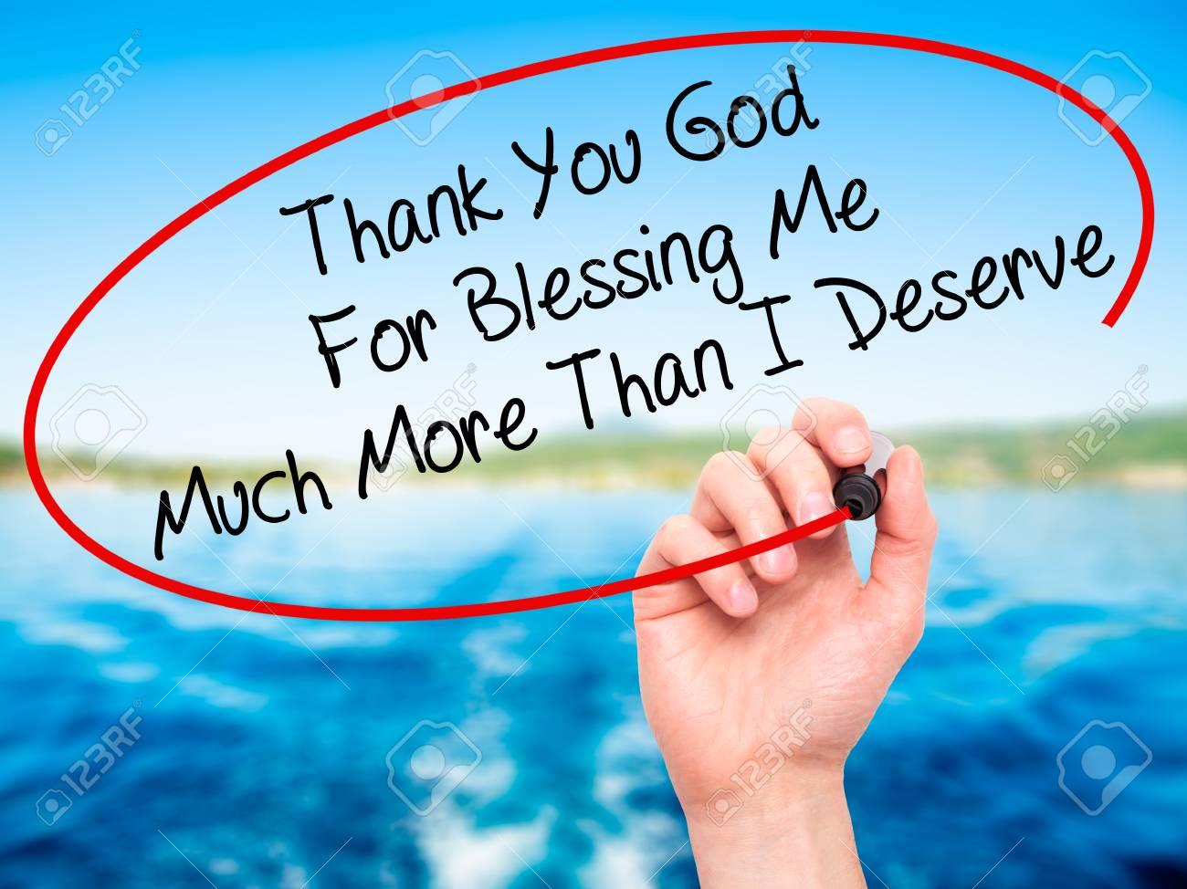 Immagini Stock Scrittura Man Mano Grazie A Dio Per La Benedizione