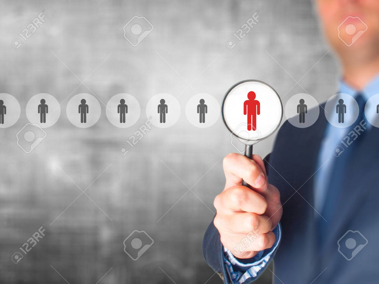 networking and recruitment businessman magnifying glass networking and recruitment businessman magnifying glass human resources crm data mining