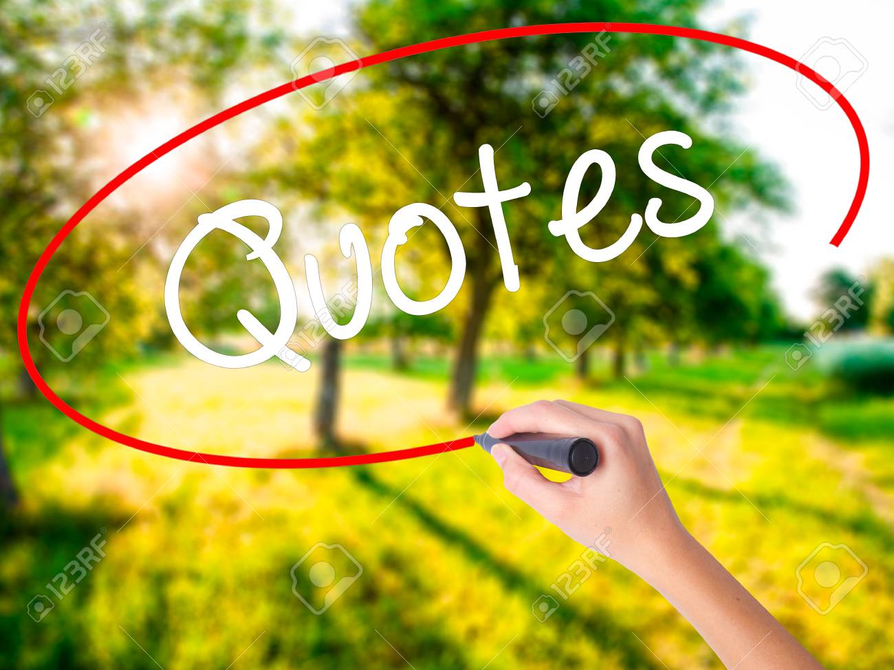 Citaten Schrijven Free : Woman hand writing quotes on blank transparent board with a.. stock