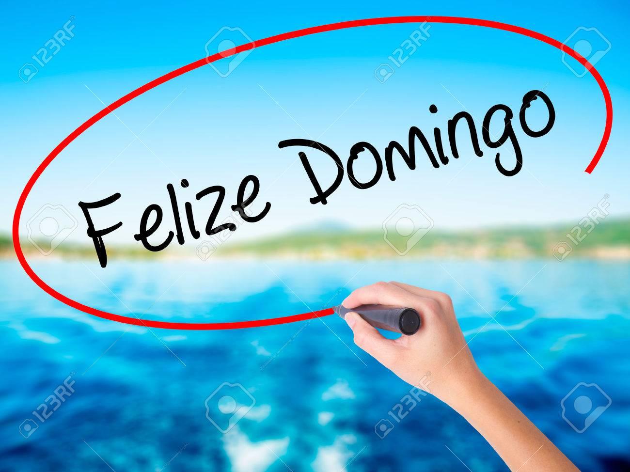 Escritura De Mano De La Mujer Felize Domingo Feliz Domingo En