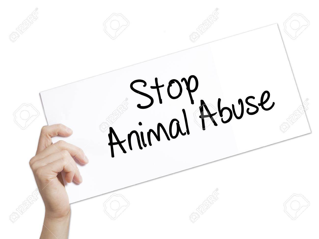 animal abuse paper