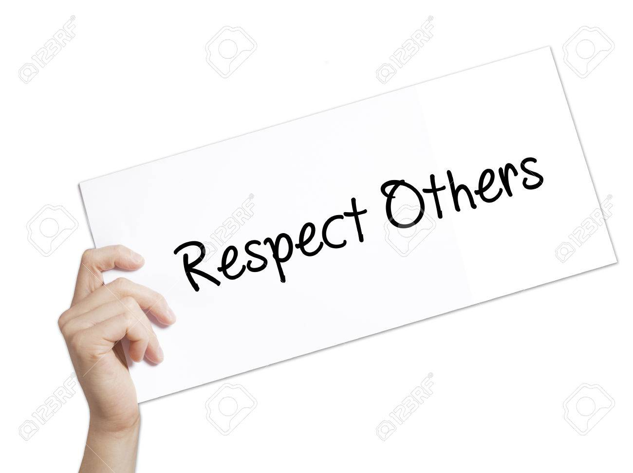 a paper on respect