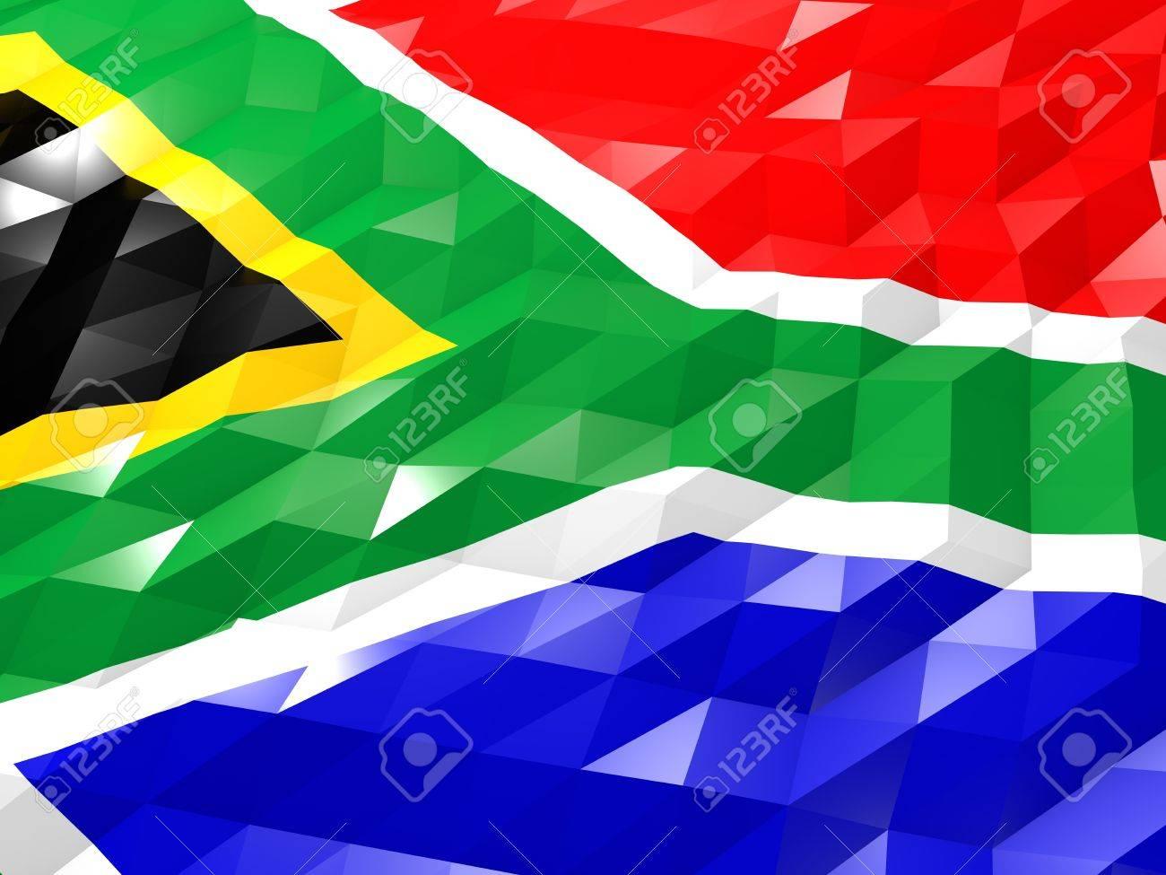 Flag Of South Africa 3d Wallpaper Illustration National Symbol