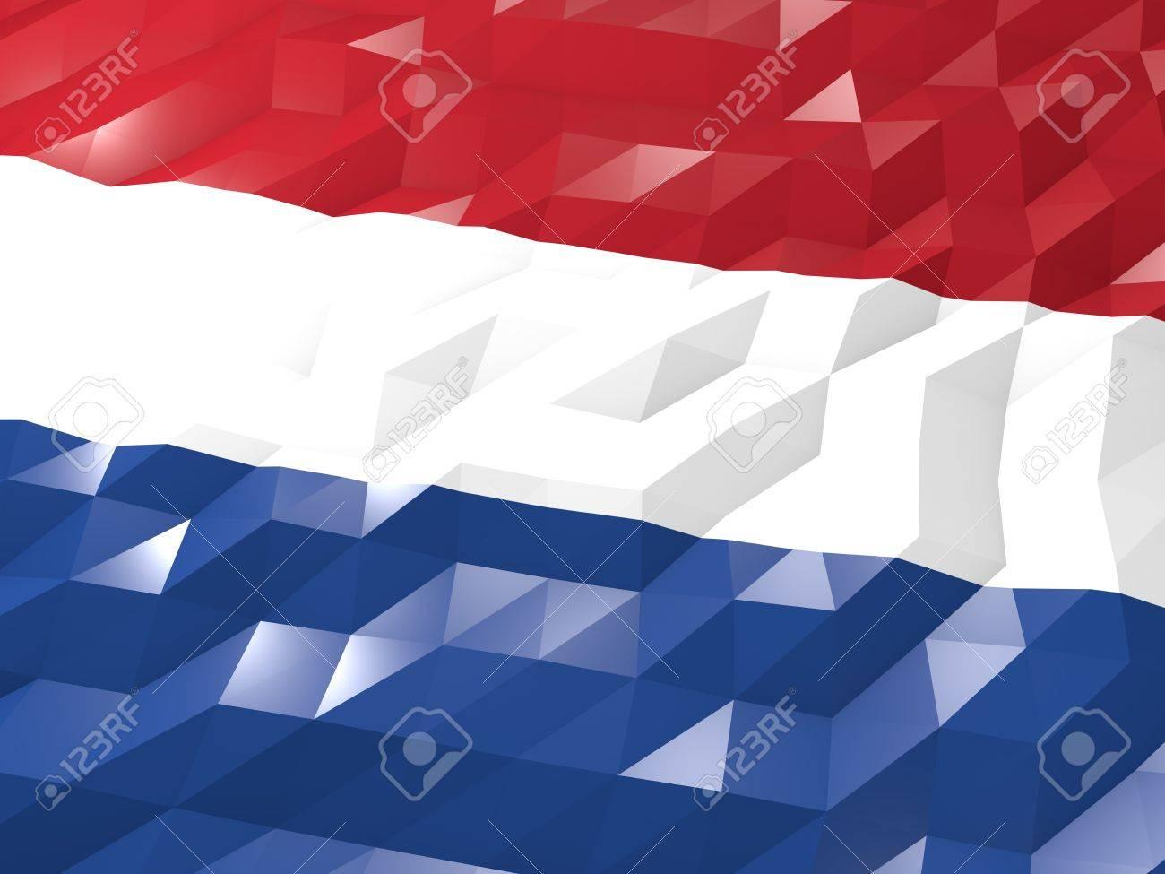 Flag Of Netherlands 3d Wallpaper Illustration National Symbol
