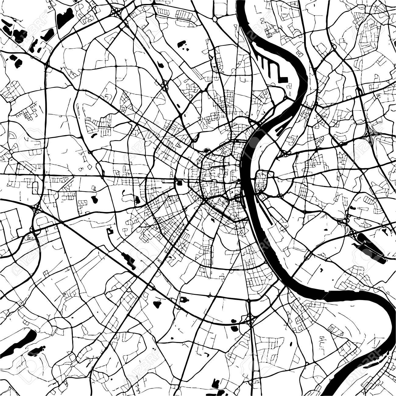 Cologne germany monochrome map artprint outline version ready cologne germany monochrome map artprint outline version ready for color change gumiabroncs Choice Image