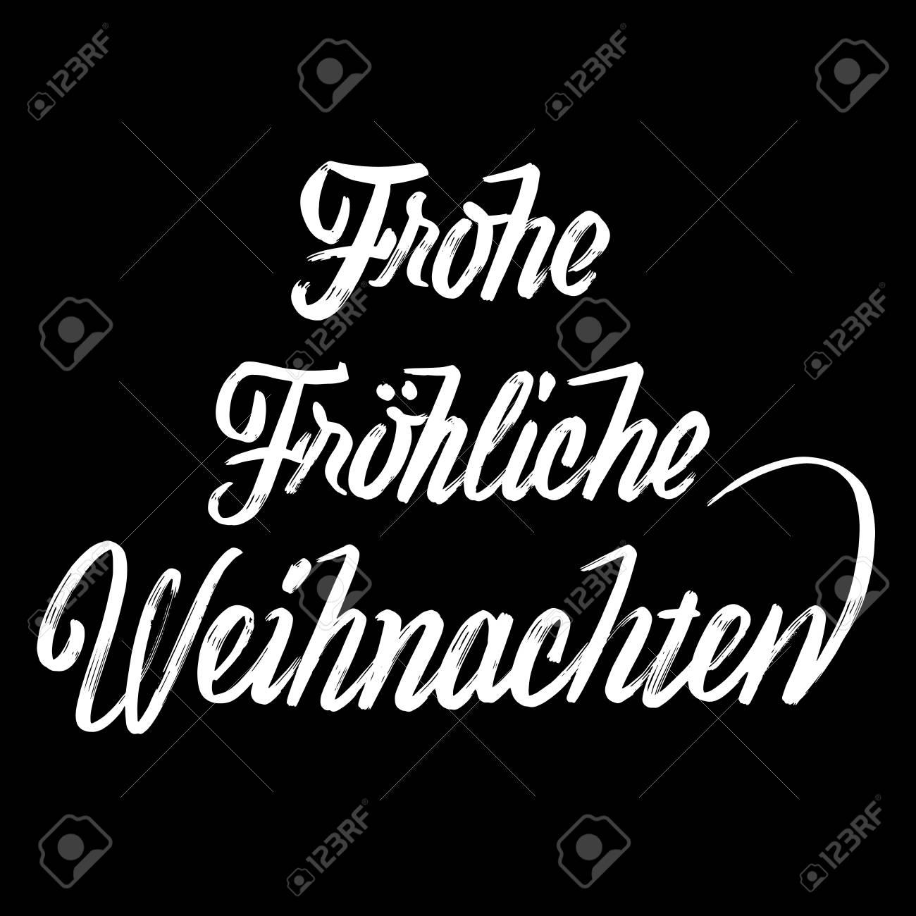 Frohe Frohe Weihnachten Schriftzug In Deutsch, Handgemachte ...