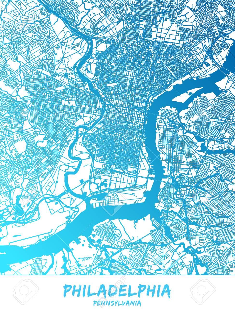 on downtown philadelphia map