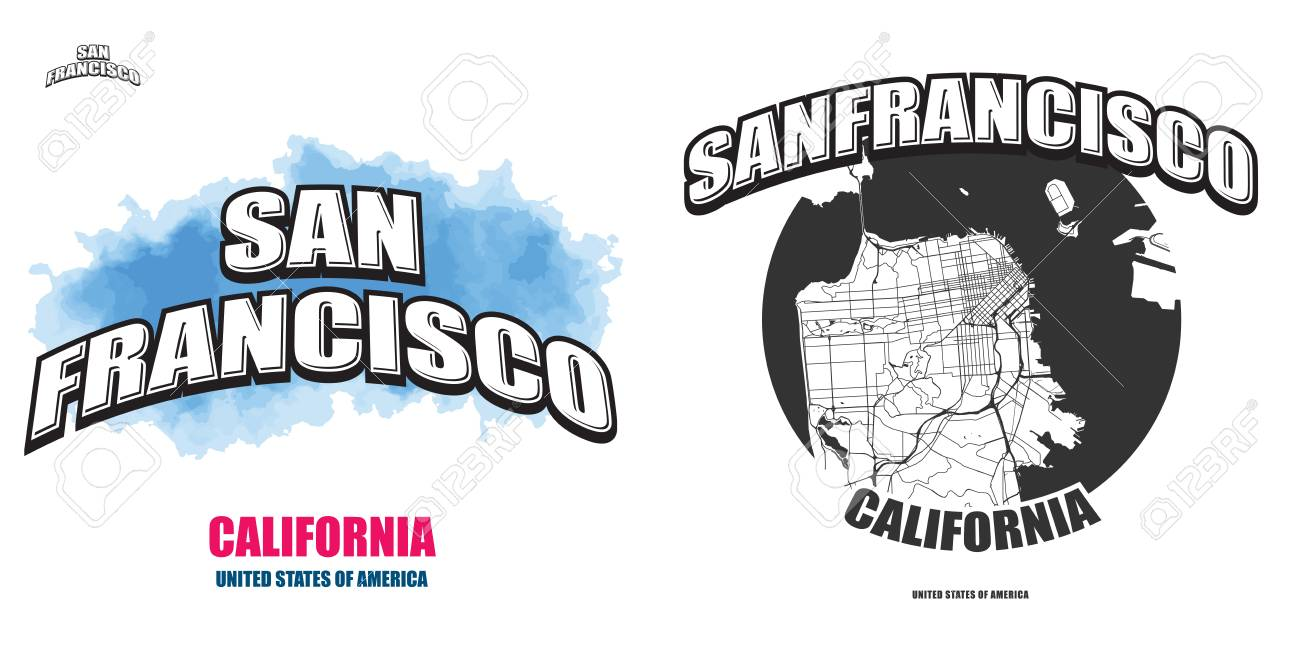 San Francisco California Logo Design Two In One Vector Arts