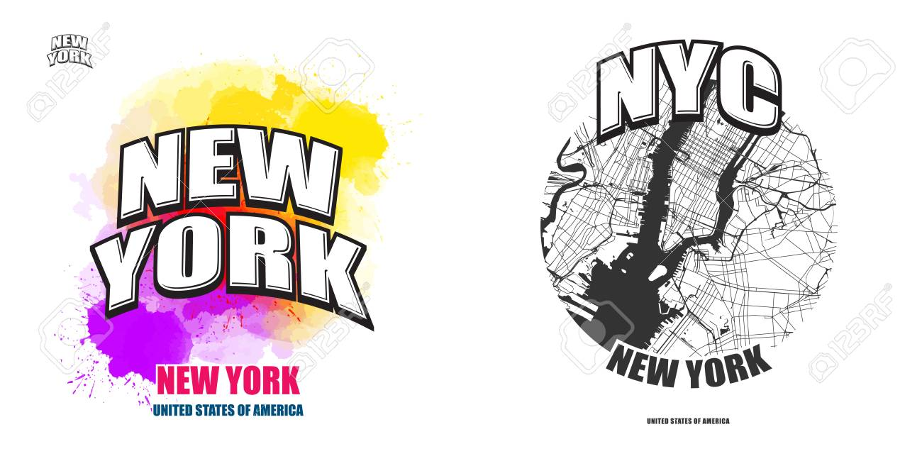 New York City New York Logo Design Two In One Vector Arts Royalty Free Cliparts Vectors And Stock Illustration Image 100188062