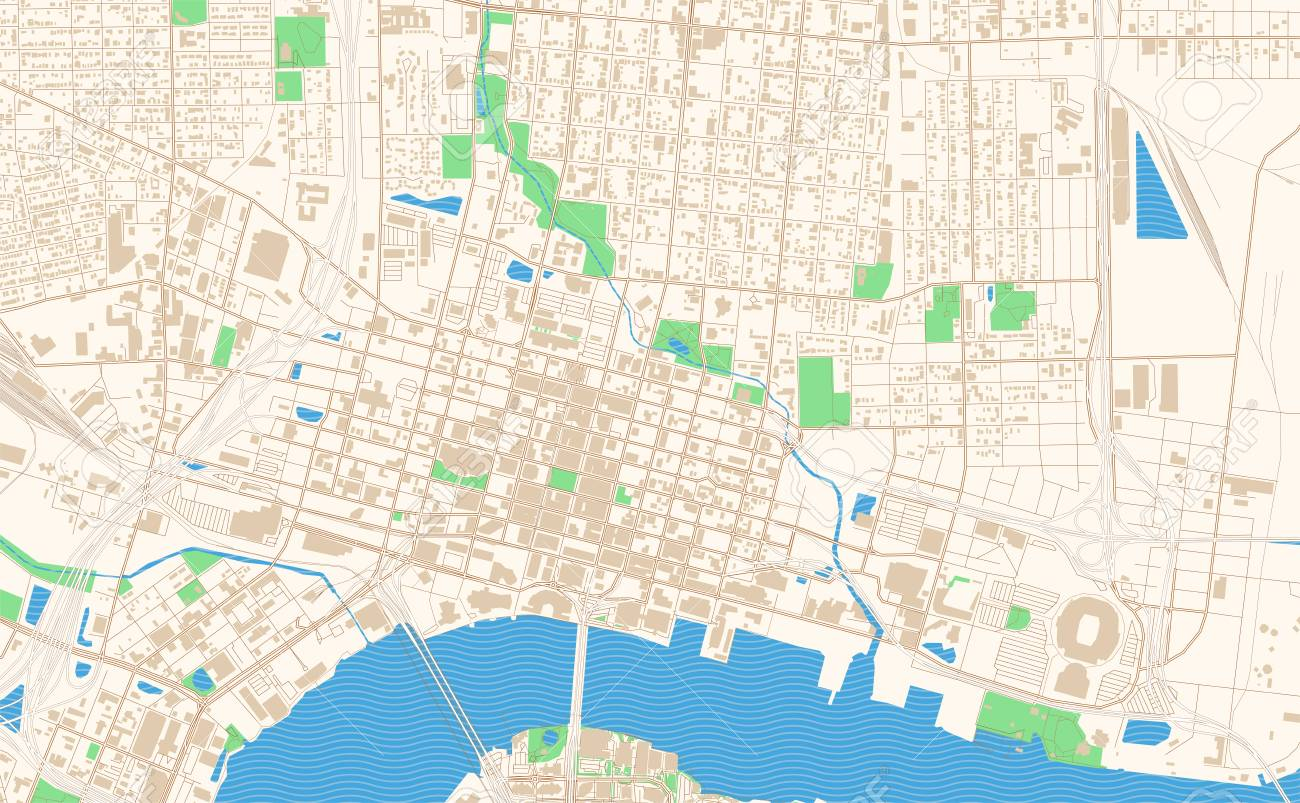 photo relating to Printable Map of Jacksonville Fl known as Jacksonville Florida printable map excerpt. This vector streetmap..