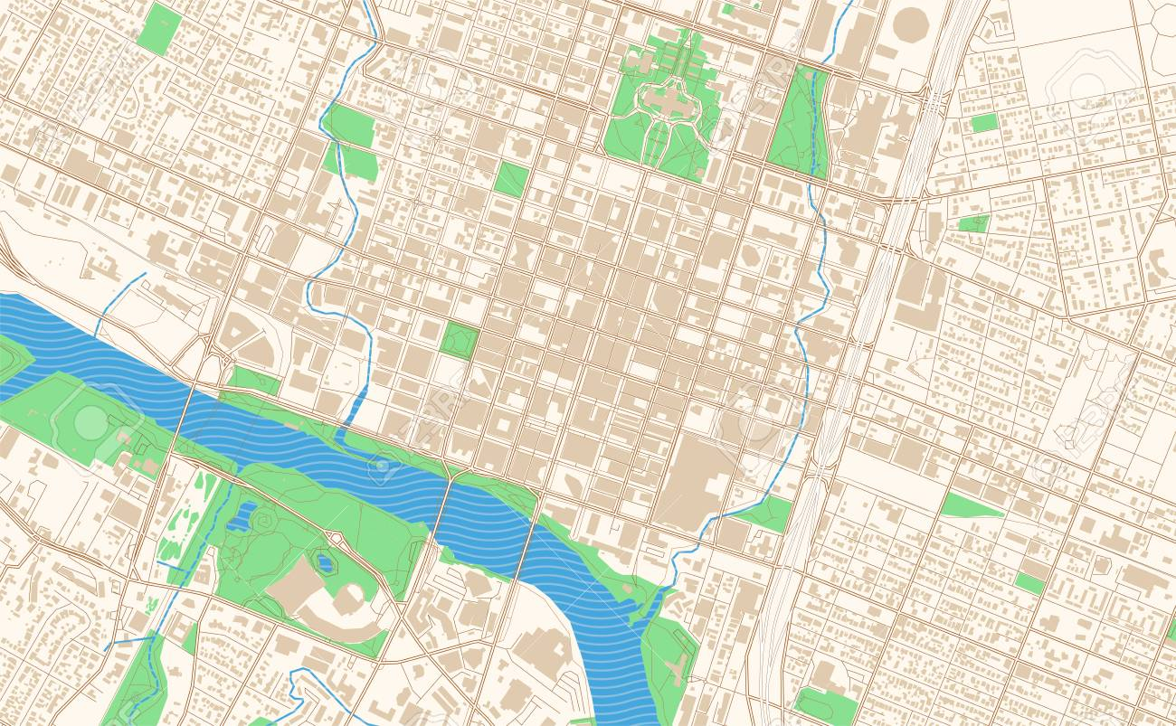 Austin Texas Printable Map Excerpt This Vector Streetmap Of