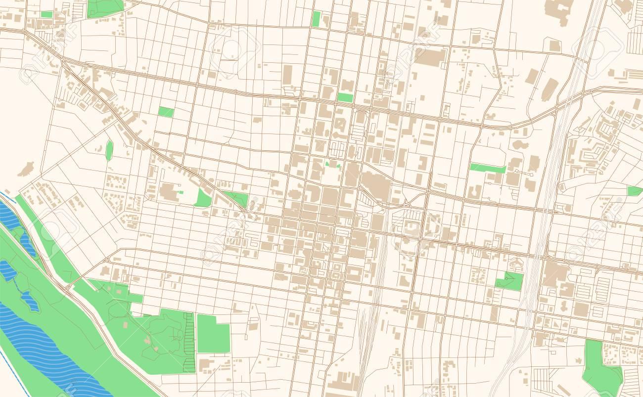 image regarding Printable Map of New Mexico titled Albuquerque Refreshing Mexico printable map excerpt. This vector streetmap..