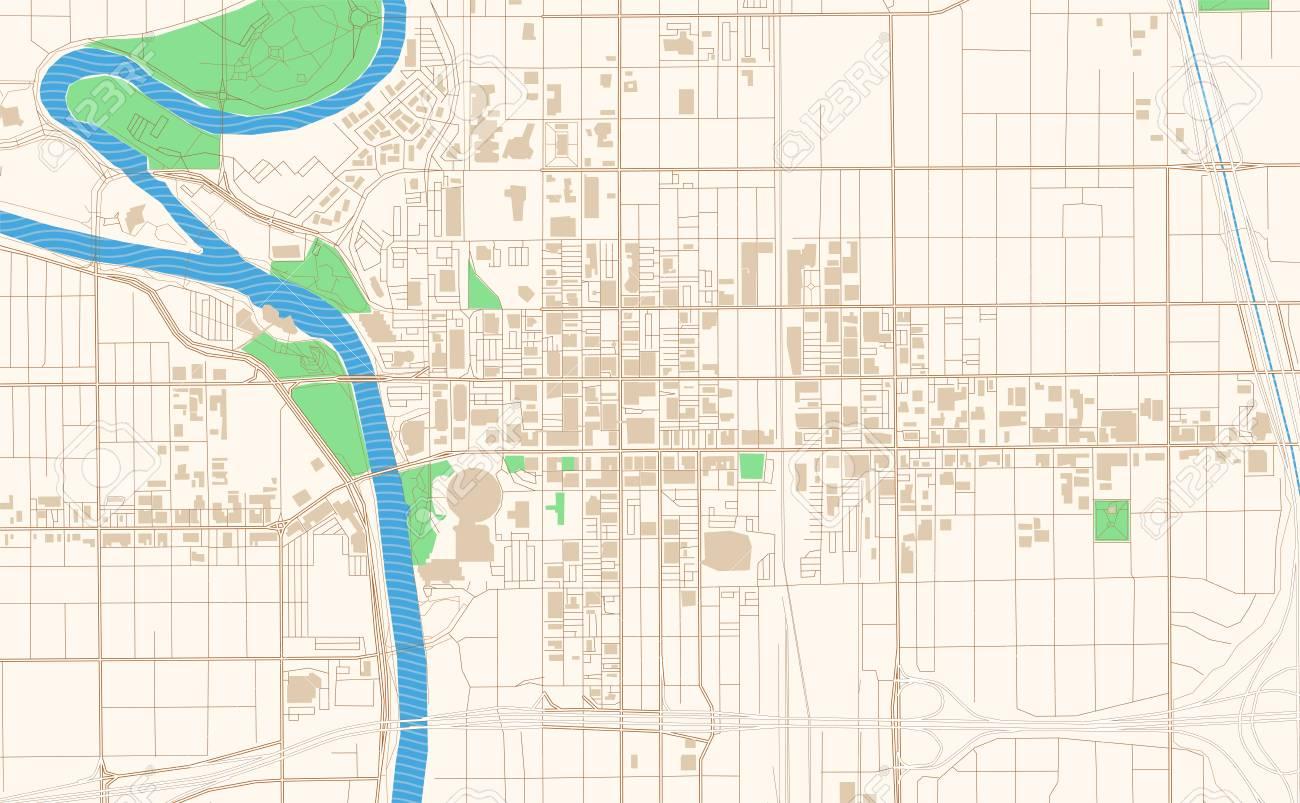 graphic regarding Printable Map of Kansas named Wichita Kansas printable map excerpt. This vector streetmap of..