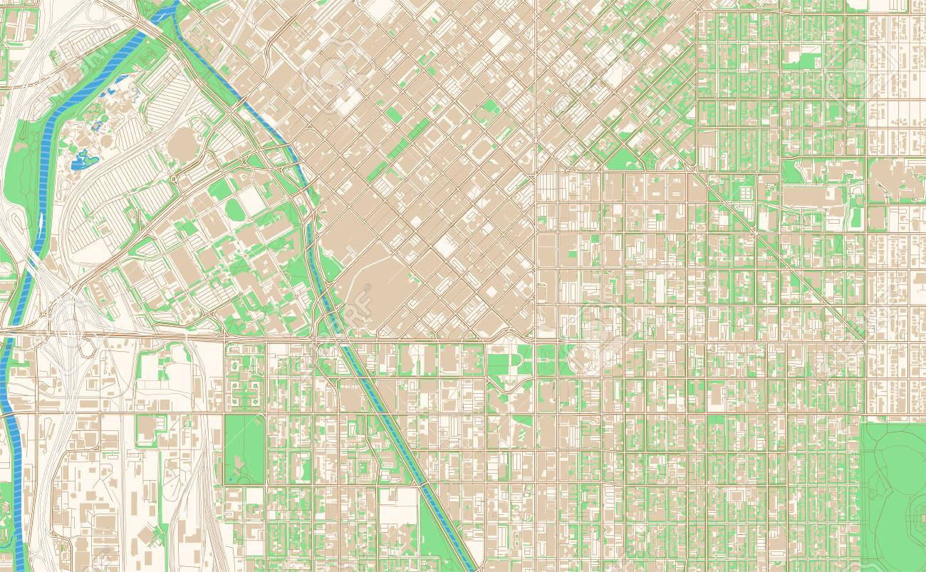 photo relating to Printable Map of Colorado referred to as Denver Colorado printable map excerpt. This vector streetmap..