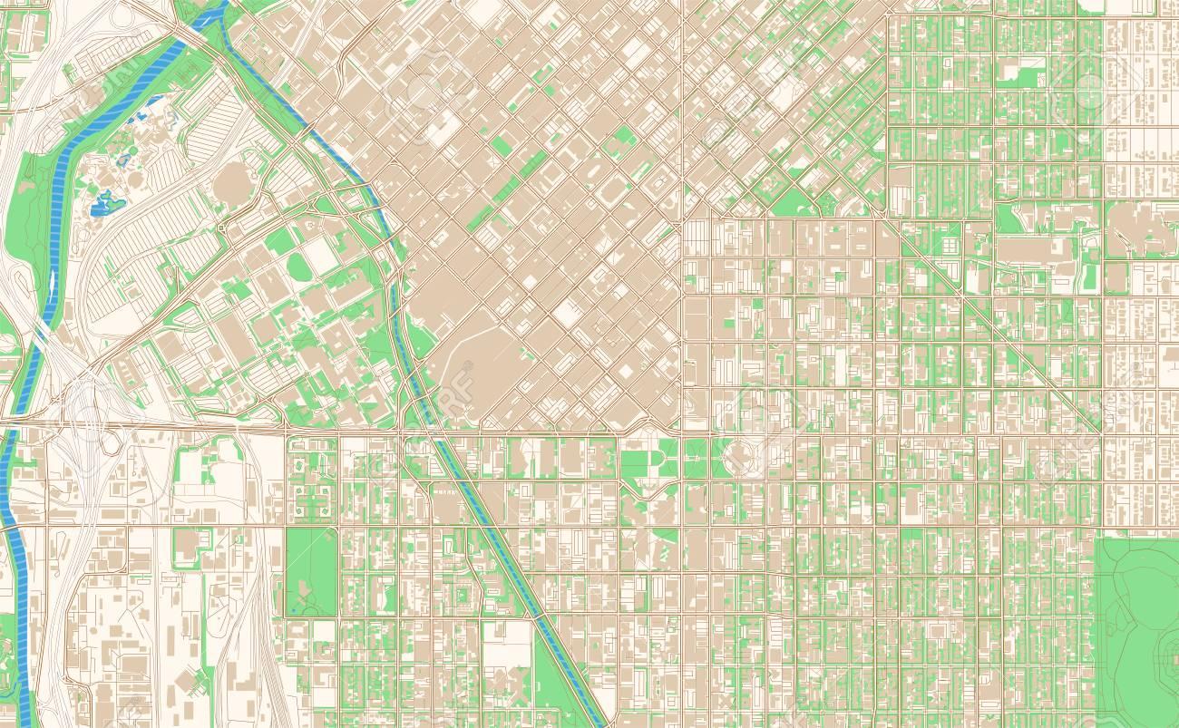 photo regarding Printable Street Map of Downtown Chicago called Denver Colorado printable map excerpt. This vector streetmap..