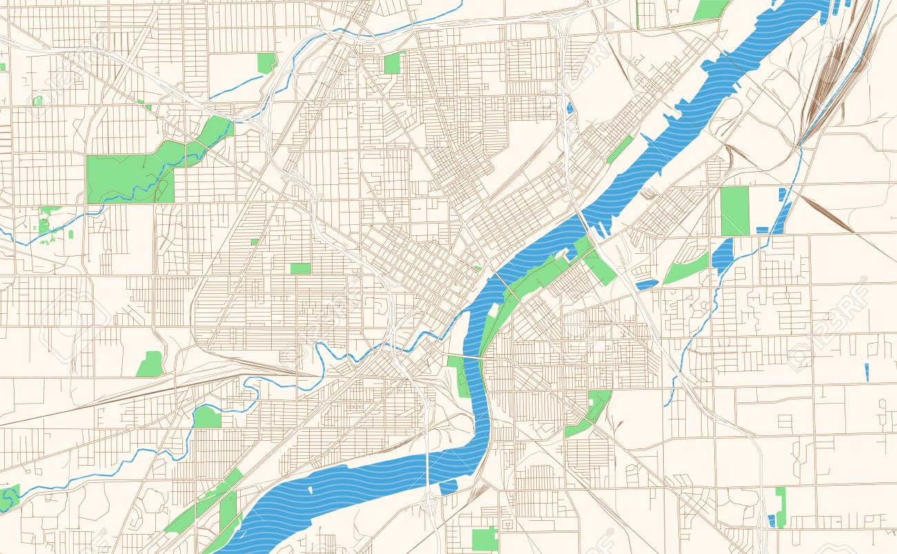 graphic about Printable Map of Ohio identify Toledo Ohio printable map excerpt. This vector streetmap of downtown..