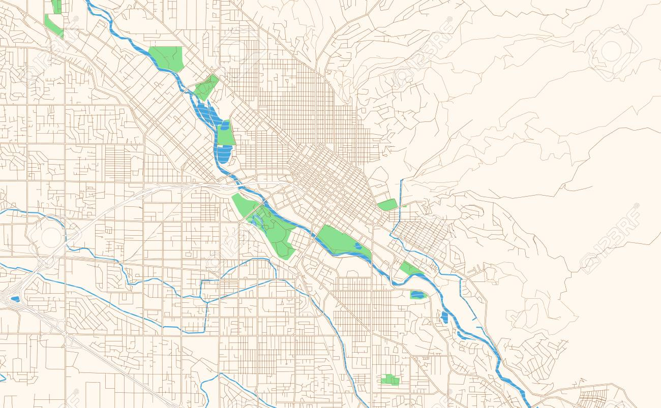 graphic relating to Printable Map of Idaho titled Boise Idaho printable map excerpt. This vector streetmap of downtown..