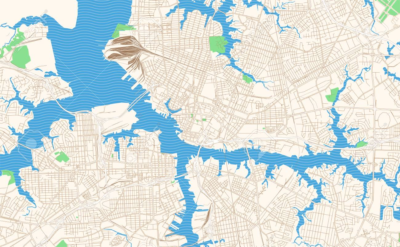 picture regarding Printable Map of Virginia identified as Norfolk Virginia printable map excerpt. This vector streetmap..