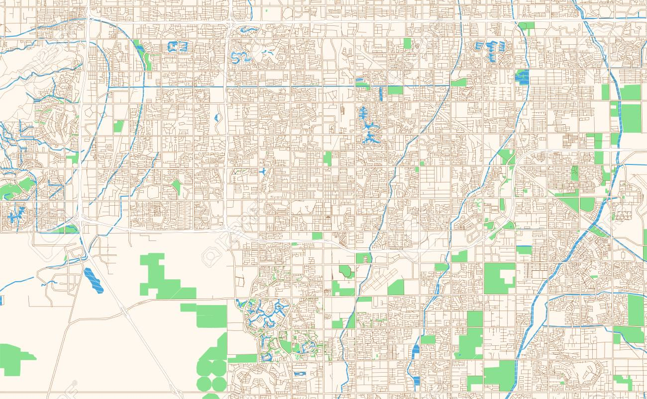 Printable Map Of Arizona.Chandler Arizona Printable Map Excerpt This Vector Streetmap