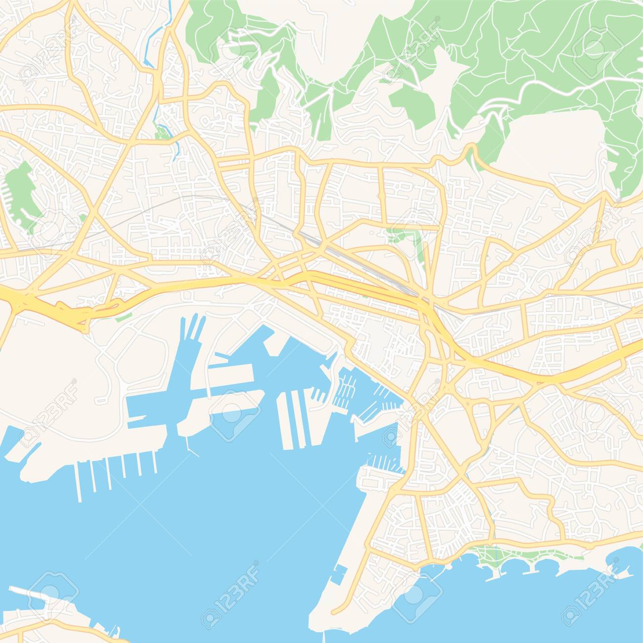 Map Of France Roads.Printable Map Of Toulon France With Main And Secondary Roads