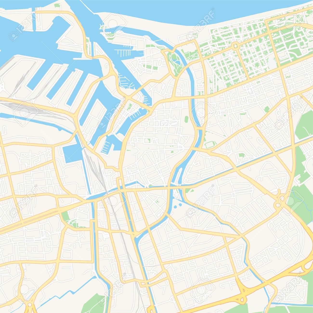 Map Of France Dunkirk.Printable Map Of Dunkirk France With Main And Secondary Roads