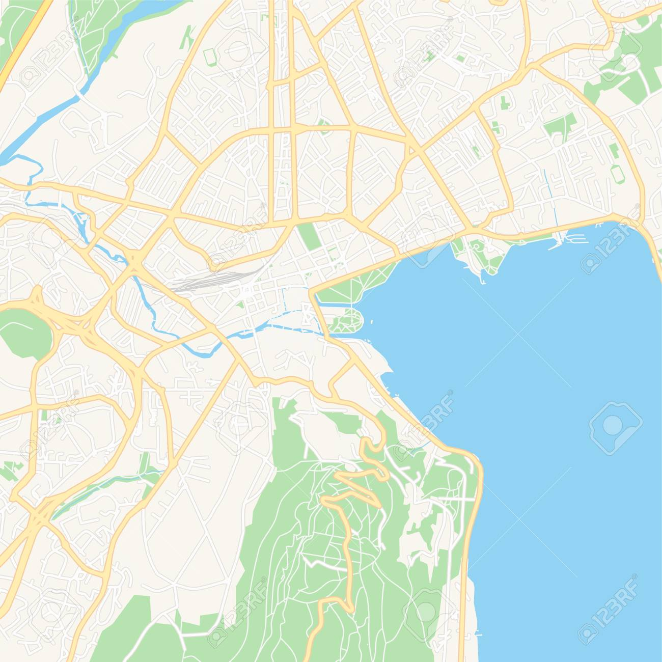 graphic regarding Printable Map of France known as Printable map of Annecy, France with principal and secondary streets..