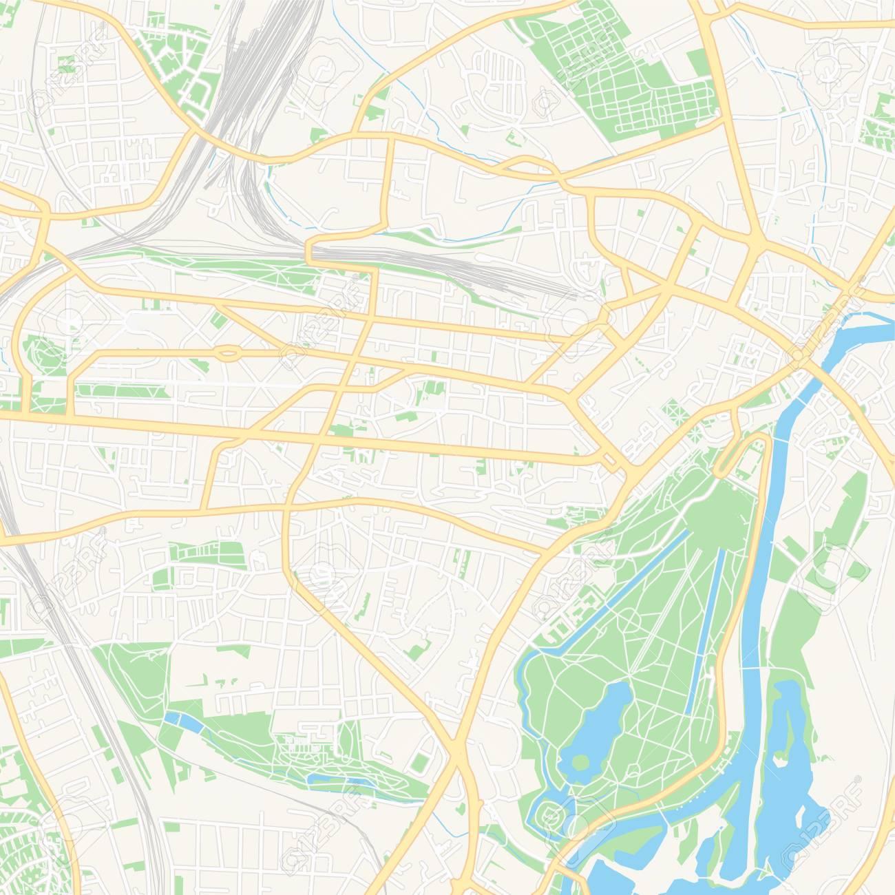 image regarding Printable Map of Germany named Printable map of Kel, Germany with principal and secondary roadways..