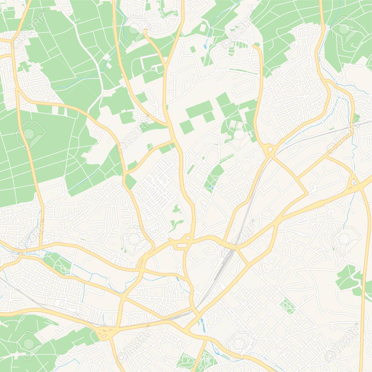 Free Printable Map Of Germany.Printable Map Of Reutlingen Germany With Main And Secondary