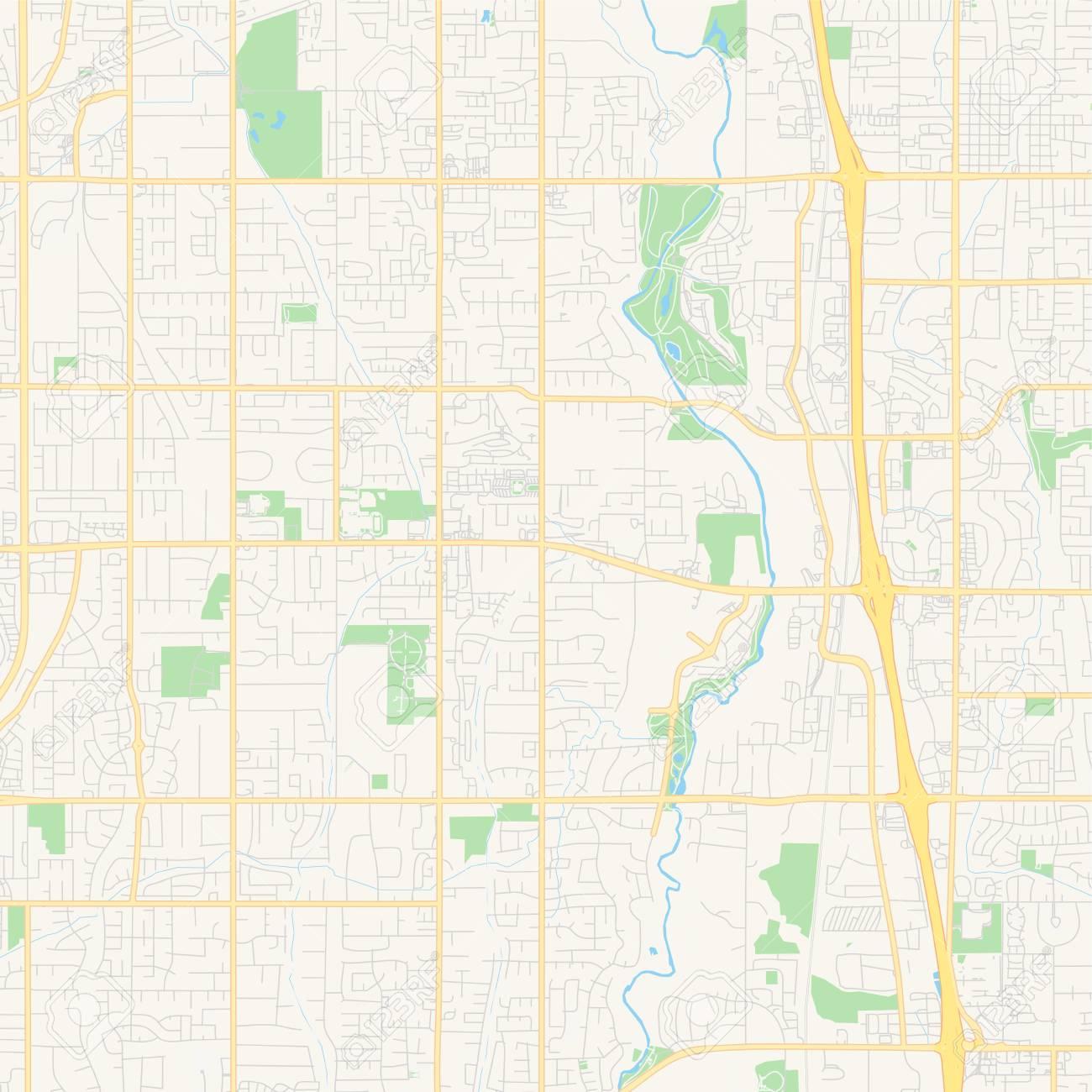 photo relating to Printable Map of Utah identify Vacant vector map of South Jordan, Utah, United states of america, printable highway map..