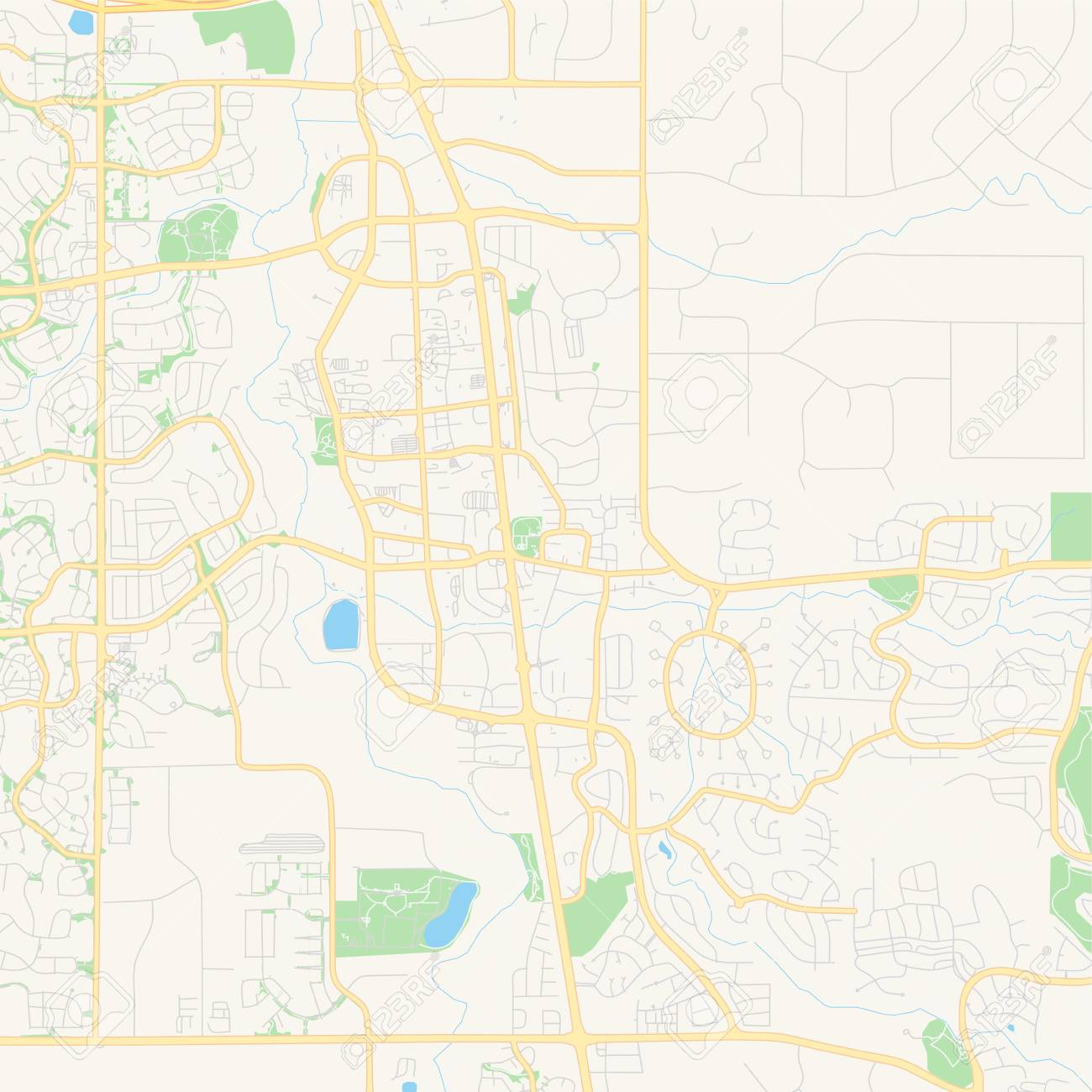 Empty vector map of Parker, Colorado, United States of America,..