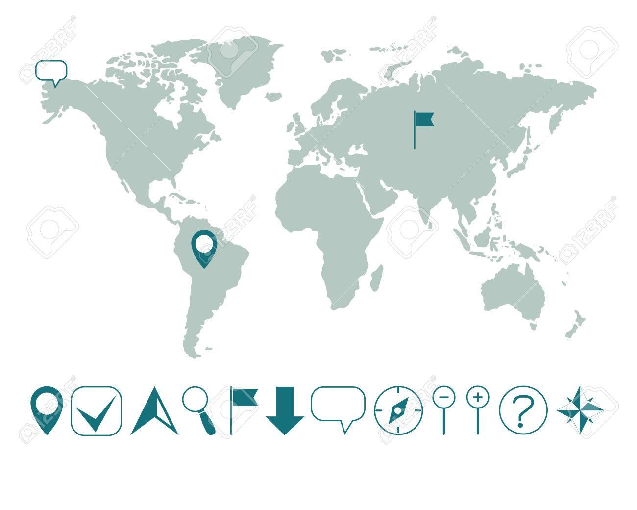 簡単 世界 地図