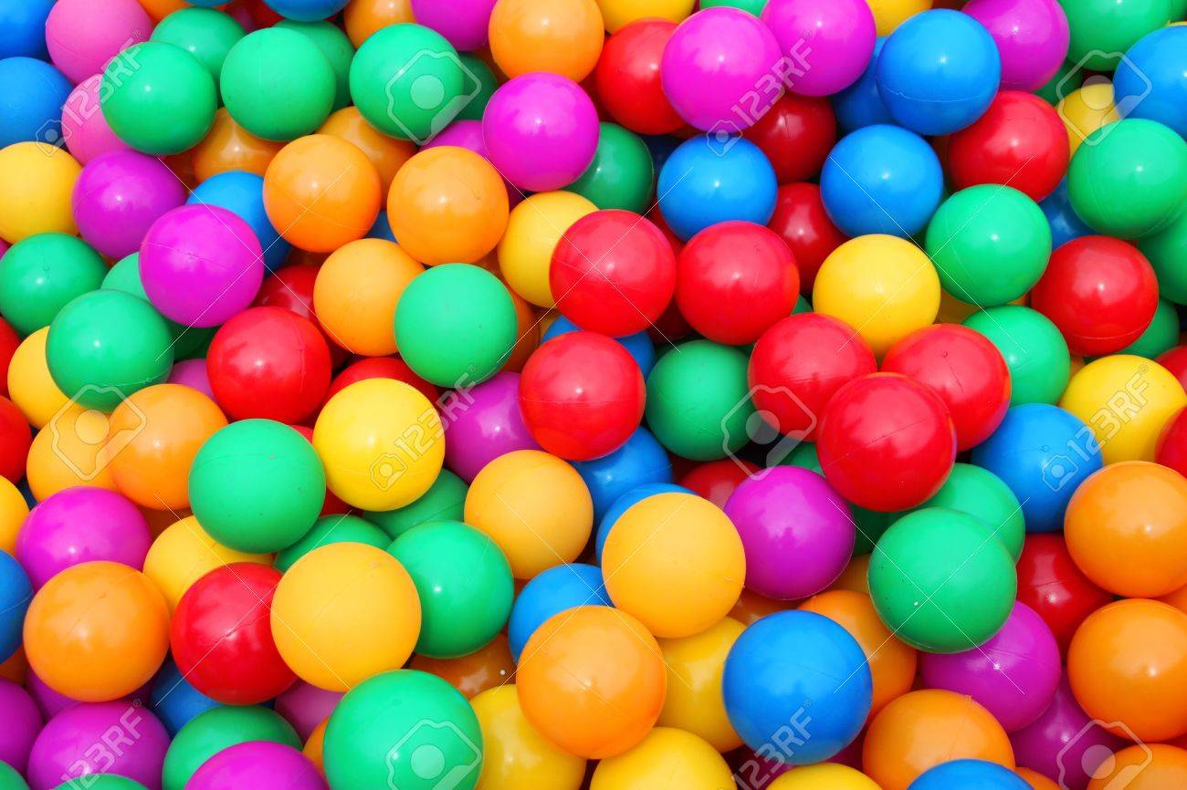 Pile of colorful little balls for children to play around Stock Photo - 10105556