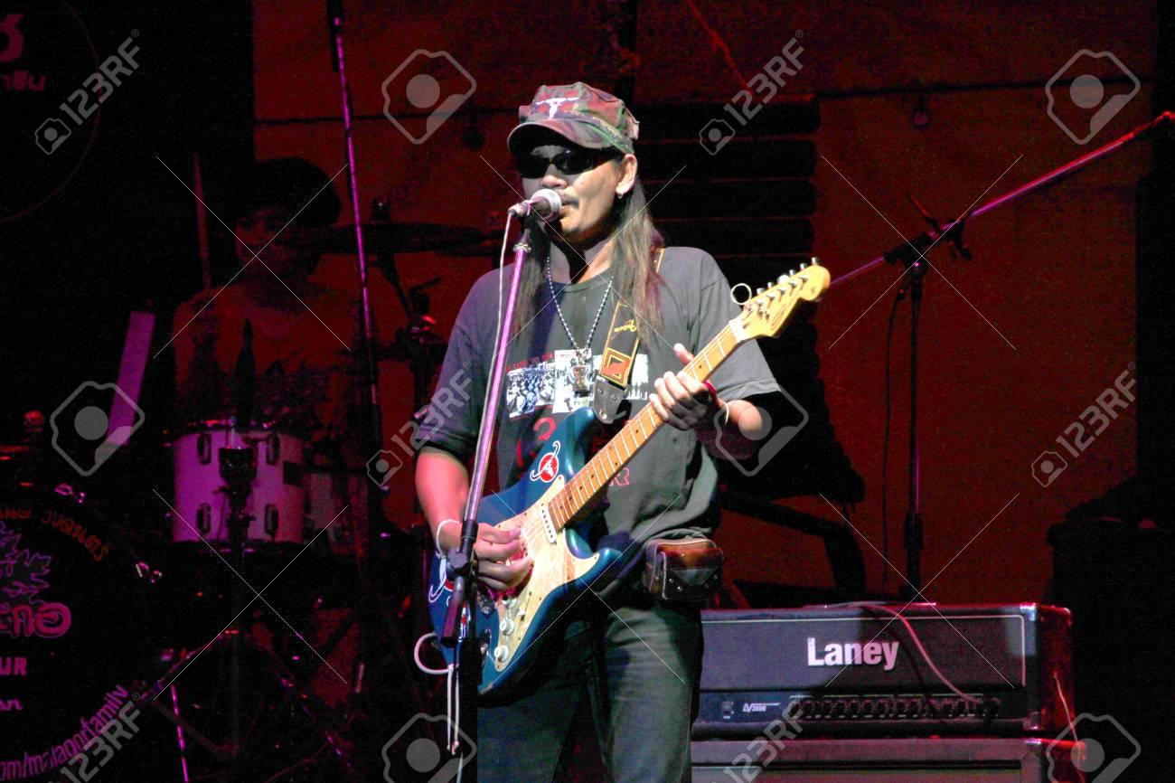 MUANG, MAHASARAKHAM - APRIL 19 : The unidentified singer is performing in concert on April 19, 2012 at Tawandang Music Hall, Muang, Mahasarakham, Thailand. Stock Photo - 13257456
