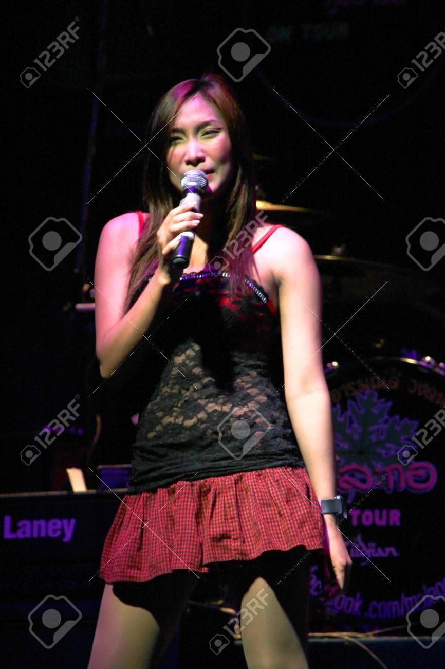MUANG, MAHASARAKHAM - APRIL 19 : The unidentified singer is performing in concert on April 19, 2012 at Tawandang Music Hall, Muang, Mahasarakham, Thailand. Stock Photo - 13289316