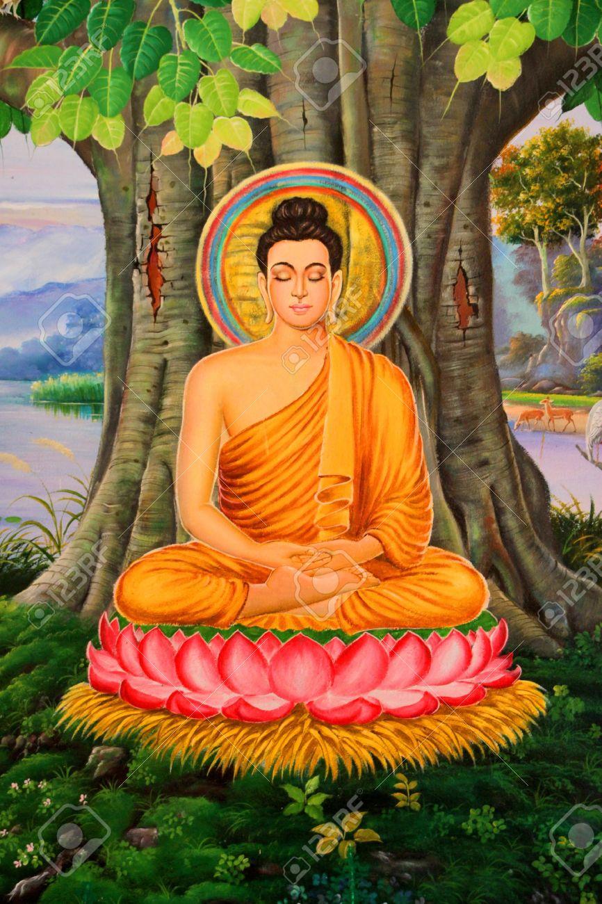 biografie buddha biographie malerei an der wand des tempels wat pa samoson mahasarakham