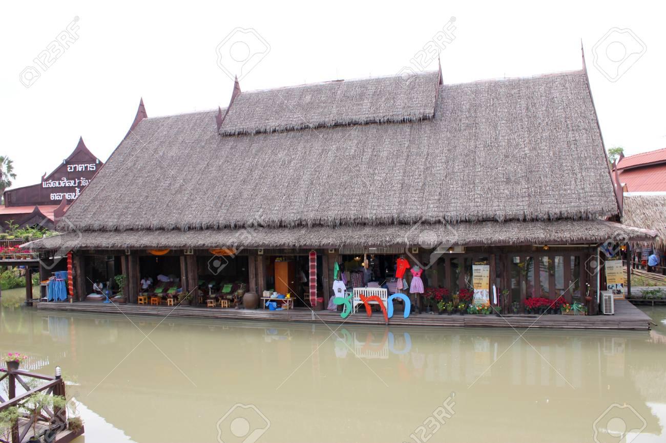 Ayothaya Floating Market on January 6, 2013 at Ayutthaya, Thailand. Stock Photo - 17356153